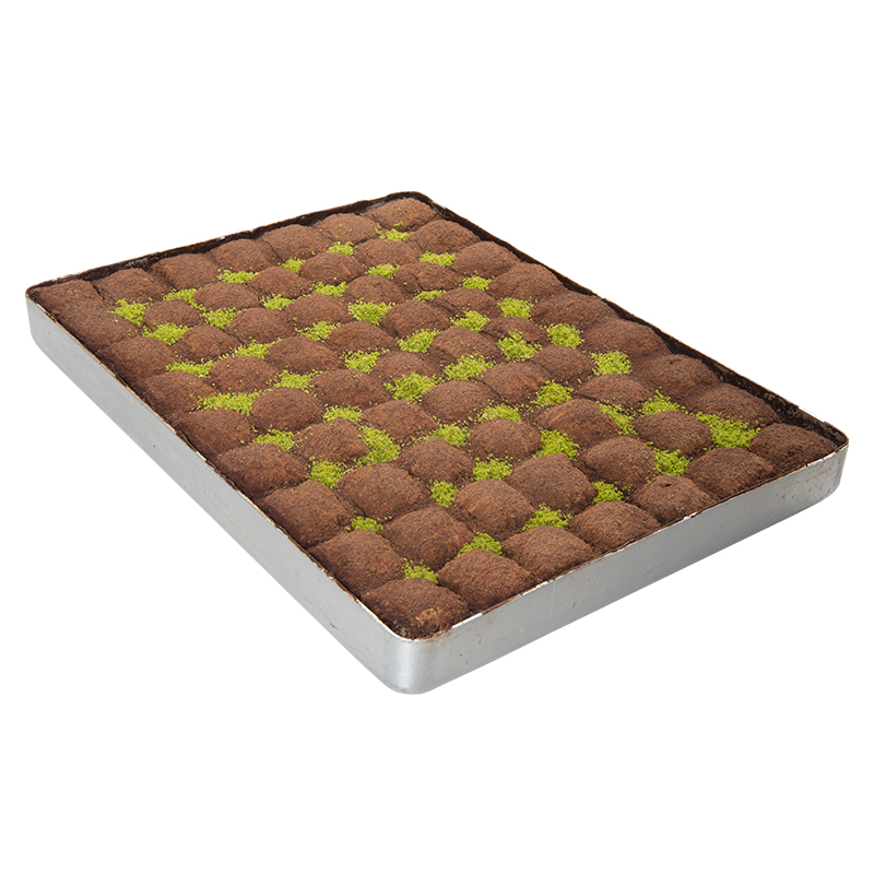 Cold Milky Dark Chocolate, Cold Baklava - Large Tray (4,3 Kg.)