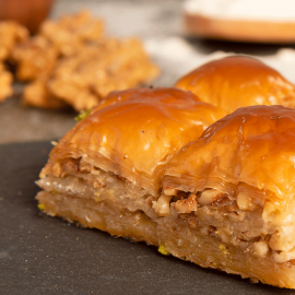 Home Made Baklava With Walnut