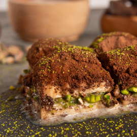 Cold Milky Dark Chocolate Baklava